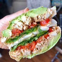 Flatbread-with-Avocado-Tofu-Scramble-Lettuce-and-Tomato-markook-thinnest-flatbread-sandwich-wrap-araz-arazlavash-recipes-lavash-breadmasters-breadmasters.com