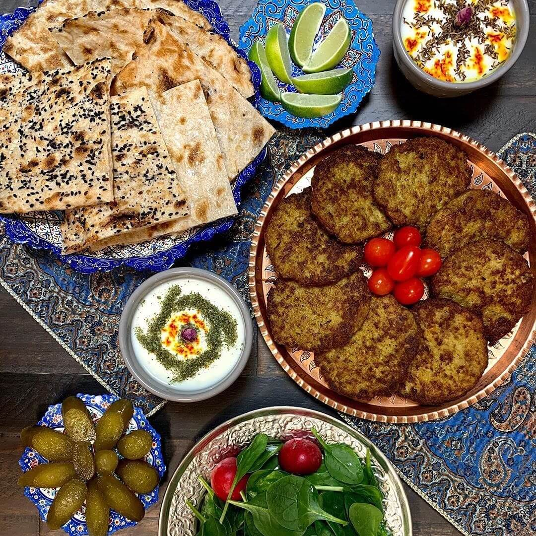Kotlet-Persian-Cutlet-with-Sangak-Bread-toasted-flatbread-cuisine-recipes-lavash-arazlavash-breadmasters-breadmasters.com