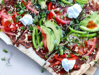 Refried-Beans-Avocado-pizza-breadmasters-breadmasters.com-lavash-araz-arazlavash-foodie-recipes-bread-bakery-flatbreadrecipes-lavashrecipes-markook-sangak-sangakcrisps-persian-armenianlavas