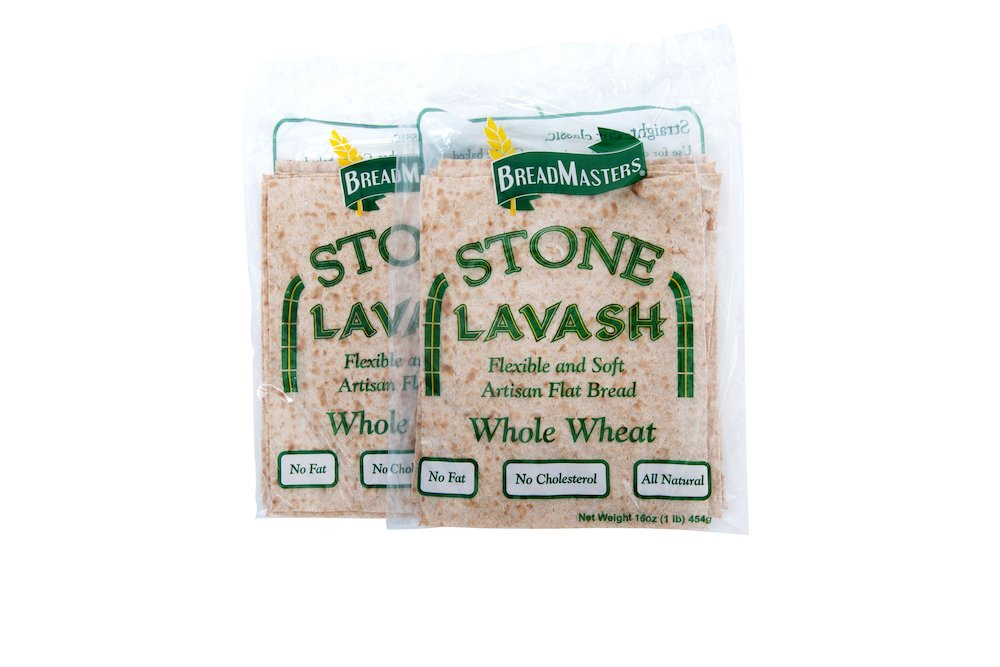 Stone Lavash Whole Wheat Flatbread by Breadmasters ARA-Z. Available in-store and online. Shop Now on Breadmasters.com!