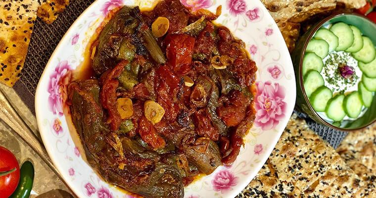 Borani-e-Kadoo-va-Bademjan-recipe-sangak-sangakbread-persian-cuisine-persiancuisine