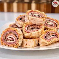 Mortadella-Genoa-Salami-Provolone-Pinwheels-lavash-recipe-breadmasters-araz