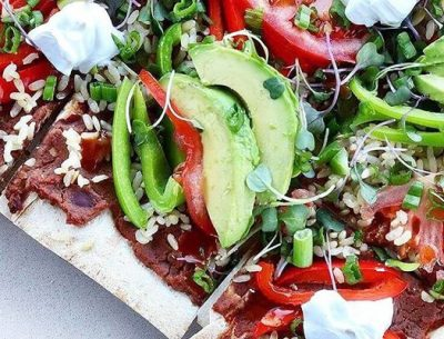 Refried-Beans-Avocado-pizza-breadmasters-breadmasters.com-lavash-araz-arazlavash-foodie-recipes-bread-bakery-flatbreadrecipes-lavashrecipes-markook-sangak-sangakcrisps-persian-armenian-ar