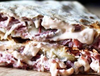 Crunchy-Reuben-Sandwich-wrap-markook-thinnest-flatbread-breadmasters-arazlavash-breadmasters.com-lavash-bread-order-online-buy