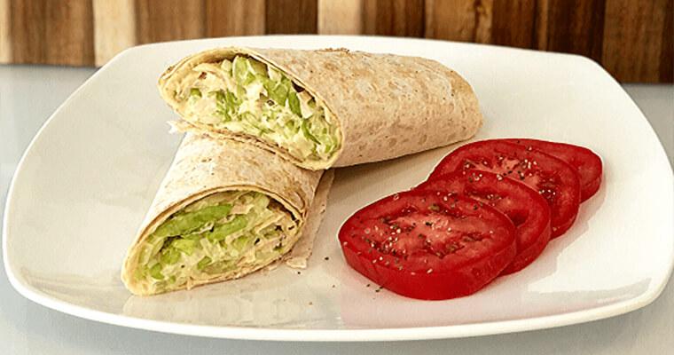 Tuna Salad Wrap Recipe With Markook Lavash Thinnest Flatbread by Breadmasters ARA-Z. Albacore tuna, crisp celery, spicy onions and fresh lettuce.