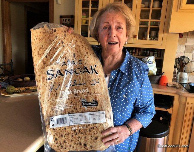 Jean and Sangak Iranian bread
